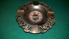 ROULETTE WHEEL/ashtray,WORKS,rare,VTG,works,JAPAN,souvenir,must see,button,spins