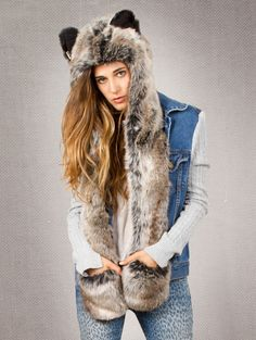Spirit hood :: ADULTS :: Women's Full Hoods :: Grey Wolf WANT SO BAD!!! BDAY PRESENT!!!