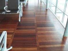 CORK AIRPORT, JATOBA LADDER PATTERN - Parquet Floors - O'Flynns Flooring -