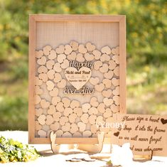 Rustic wedding decor ideas Wood wedding guest book Happily ever after Wedding guestbook alternative Heart drop box Burlap guest book frame by Vyroby. The exclusive guestbook is handmade for you. Price from $ 41.65 #beige #burlap #guestbook #weddingideas #wedding #happilyeverafter #vyroby