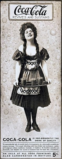 vintage everyday: Banishes the worries of business from the brain like a benediction. Coca-Cola 1906