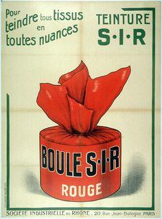 #Teinture S.I.R. - Société Industrielle du Rhône, avec une gamme de #couleurs pour tous les goûts. Ici le #rouge ne passe pas inaperçu #numelyo #publicité #color