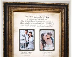 Check out Wedding Gift Parents Personalized Wedding Gift Parents Bride Gift to Parents Custom Picture Frame Groom Gift Bride Gift Marriage Gift, on photoframeoriginals Thank You Gift For Parents, Wedding Gifts For Parents, Mother Of The Groom Gifts, Wedding Thank You Gifts, Mother In Law Gifts, Wedding Gifts For Groom, Father Of The Bride, Bride Gifts, Gift Wedding