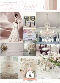 Lace, Glitter & Blush Pink Wedding Inspiration by Rose & Ruby Paper Co. | Bridal Musings