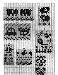 Stitch World_ - Laimutė P. Baby Boy Knitting Patterns, Knitting Machine Patterns, Knitting Charts, Knitting Stitches, Knitting Designs, Baby Knitting, Filet Crochet, Thread Crochet, Cross Stitch Borders