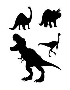 Dinosaurs 4 iron on transfer applique t shirts totes pillow cases Deer Silhouette, Silhouette Design, Caleb, Dinosaur Birthday Party, Scroll Saw Patterns, Big Bird, Silhouette Cameo Projects, Iron On Transfer, Birthday Images