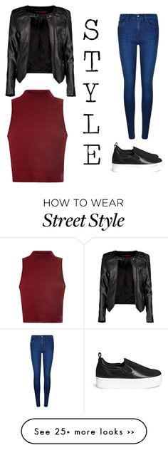 """""""street style"""" by missesbubblefashion on Polyvore featuring Pedder Red, Calvin Klein, Glamorous and Boohoo"""