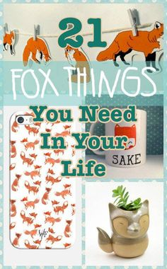 "21 Adorable Fox Products You Need In Your Life ""Foxy Lady"" Sweet Briar College, Fuchs Tattoo, Fox Collection, Fantastic Fox, Fox Crafts, Fox Decor, Mr Fox, Little Fox, Cute Fox"