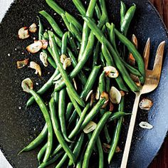 Green Beans with Toasted Garlic - Quick and Easy Side-Dish Recipes - Cooking Light