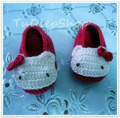 Must have for any little girl! (: hello kitty booties