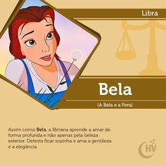 Princesa de Libra. #horóscopovirtual #princesas #signos #Bela #ABelaeaFera #libra