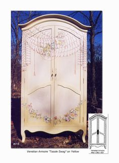 simply matters -vintage painted armoire | painted - dresser