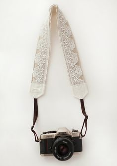 Lace Trim Camera Strap Jo on Etsy, $42.00