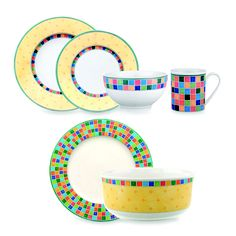 Villeroy and Boch Twist Alea Dinnerware Set - Bed Bath & Beyond