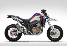 The Honda Africa Twin doesn't lend itself naturally to a supermoto format, though it isone of the most capable off-road adventure bikes on the market, but you have to admit that this photoshop renderby French designer Nicolas Petit is very intriguing. Maybe it's our obvious bias towards anything supermoto that …
