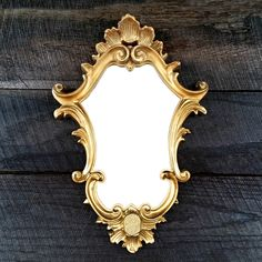 Small Ornate Gold Mirror - Accent Mirror - Vintage Mirror - Made in Italy - Baroque - Rococo- Hollywood Regency by TheCherryAttic on Etsy