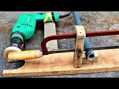 How to make a simple drill powered hacksaw at home,diy - YouTube