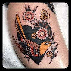 Autumnal Inspired American Traditional Work by Leonie New - Tattoos Best Sleeve Tattoos, Leg Tattoos, Flower Tattoos, Body Art Tattoos, Cool Tattoos, Tattoo Sleeves, Tatoos, Styles Of Tattoos, Tatuajes Tattoos