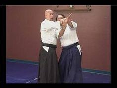 Aikido Basics: Morotedori Waza : Aikido Kaitenage Wrist Grab Defense - YouTube