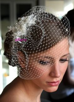 Hey, I found this really awesome Etsy listing at https://www.etsy.com/listing/118892687/wedding-veil-birdcage-veil-bridal-veil