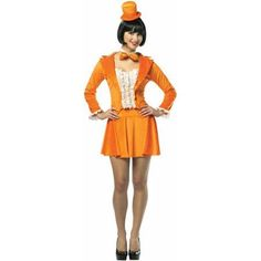 Dumb and Dumber Lloyd Christmas Tuxedo Dress Adult Halloween Costume, Women's, Size: One-Size, Orange