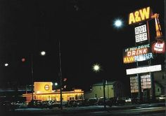 A & W on 109 St downtown, in the 1960s.