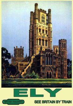 Art Ad Ely British Railways Train Rail Travel Poster Print in Art, Prints, Contemporary (1980-Now) | eBay