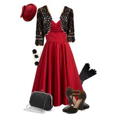 """Black Roses"" by trufflelover on Polyvore"