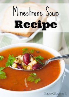 Check out our new and amazing Minestrone Soup Recipe! If your family likes soup, add this to your dinner recipes collection!