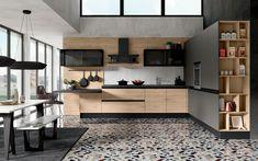 Cucina angolare moderna - Composizione 0556