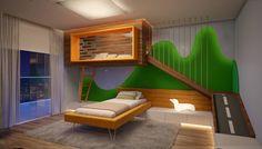 QUARTO INFANTIL 04 : Moderne Kinderzimmer von CASA DE PROJETOS