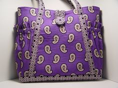 Purple Purse or Diaper Bag free shipping by SunflowerHappiness, $25.00