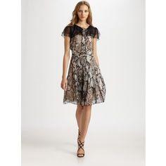 Moschino snake print chiffon dress