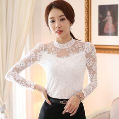 Resultado de imagen para blusa de encaje blanca corta