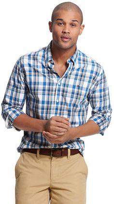 035840809ec01 Custom Fit Check Shirt - Lyst Tommy Hilfiger Shirts Mens
