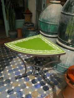 Outdoor Furniture, Outdoor Decor, Table, Home Decor, Fossils, Atelier, Morocco, Decoration Home, Room Decor