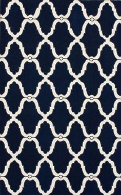 Rugs USA Homespun Hawa Moroccan Trellis Navy Rug at 75% off