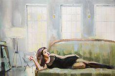 "All prices for 50% less till 10th of April. Saatchi Art Artist Natalia Baykalova; Painting, """"Manhattan morning light"""" #art"