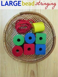 Montessori Practical Life: Large Bead Stringing