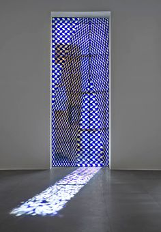 RICHARD WRIGHT No title, 2015  Leaded glass  181 1/8 × 68 1/2 inches (460 × 174 cm)   Photo by Matteo D'Eletto M3 Studio