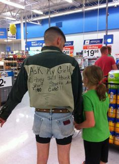 And they never wore shorts again.....EPIC parenting what a smart father!!!!!
