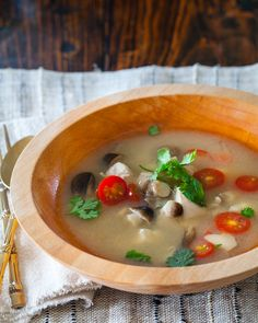 Thai Hot and Sour Chicken Soup ~ http://steamykitchen.com uses lemongrass