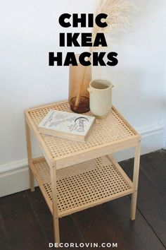 The best IKEA hacks to bring chic decor to your home. No one will ever know these amazing DIY projects are actually from IKEA. Easy Diy Room Decor, Diy Home Decor Bedroom, Budget Bedroom, Decor Room, Wall Decor, Diy Wall, Ikea Makeover, Furniture Makeover, Furniture Refinishing