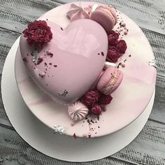 Pink cake😍 uploaded by Злата Охременко on We Heart It Pretty Cakes, Cute Cakes, Beautiful Cakes, Yummy Cakes, Amazing Cakes, Fancy Desserts, Just Desserts, Heart Cakes, Pistachio Cake