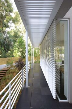 external blinds House 1 by Pitsou Kedem // Ramat Hasharon, Israel. Pitsou Kedem, Space Place, Interior Architecture, Blinds, Places, Israel, Outdoor Decor, House, Detail