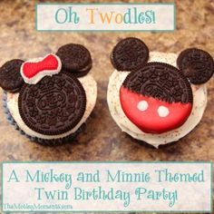 The Motley Moments: Oh Twodles! A Mickey and Minnie Themed Twin Birthday Party! 2 Year Old Birthday Party Girl, Mickey First Birthday, Second Birthday Ideas, Girls Birthday Party Themes, Birthday Treats, Happy Birthday, Twins 1st Birthdays, Mickey Party, Party Ideas