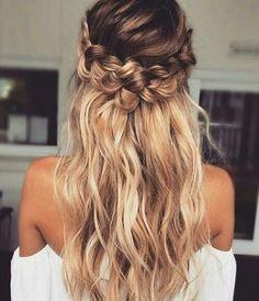 braid hairstyle half-updo