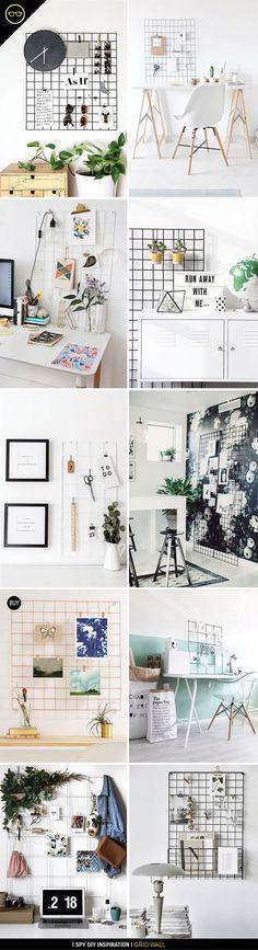 INSPIRATION   Wall Grid Organization   I Spy DIY   Bloglovin'