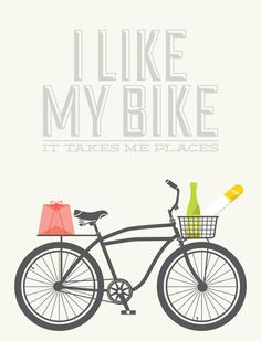 """I Like My Bike"" by Bethany Ng on Society6.com"