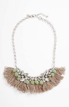 Berry Crystal & Fringe Statement Necklace   www.berryjewelry.com